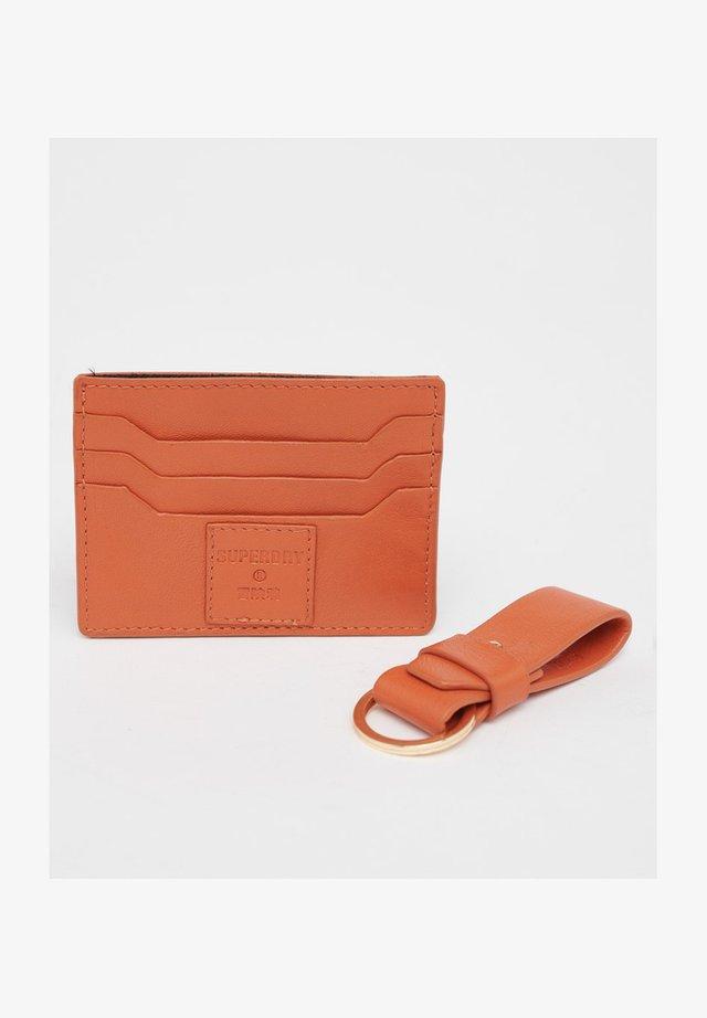 Business card holder - fiery orange