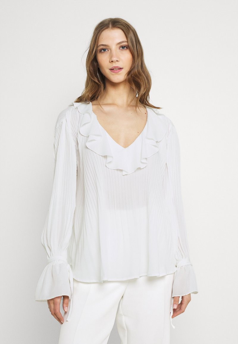 Nly by Nelly - TIED TO YOU BLOUSE - Longsleeve - white