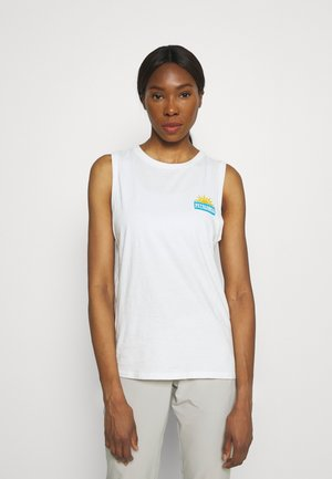 STOP THE RISE MUSCLE TEE - Top - white