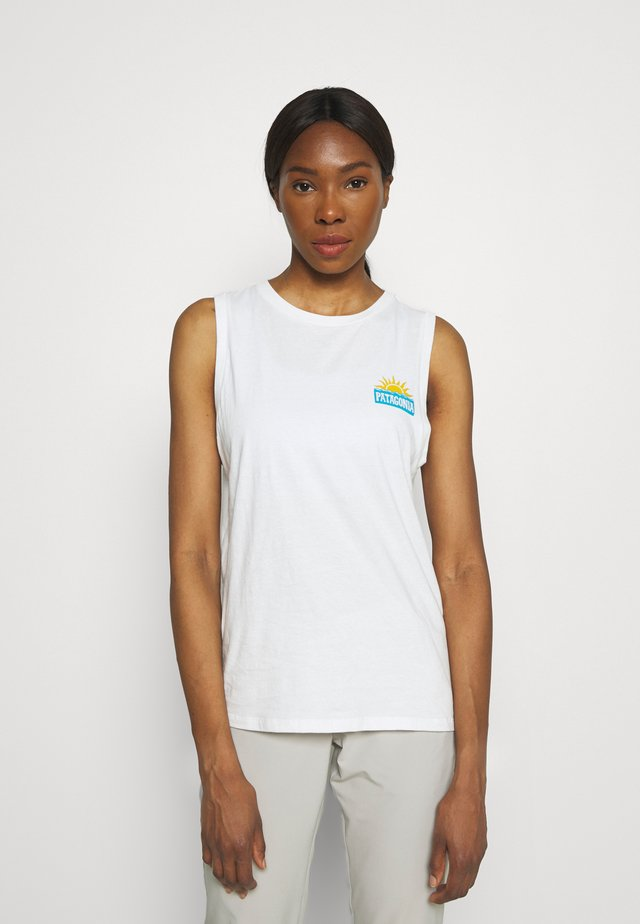 STOP THE RISE MUSCLE TEE - Toppi - white