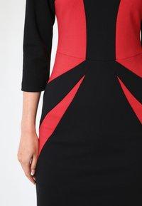 Madam-T - Shift dress - schwarz rot - 5
