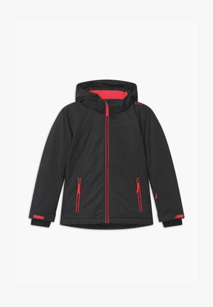 GIRL SNAPS HOOD - Ski jacket - antracite/red fluo