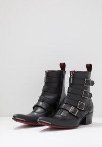 Jeffery West - VEGAN SYLVIAN B - Cowboy/biker ankle boot - black - 2