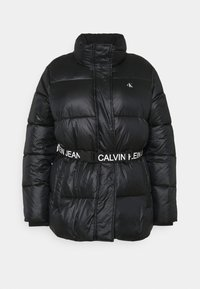 Calvin Klein Jeans Plus - LOGO BELT PUFFER - Short coat - black - 4
