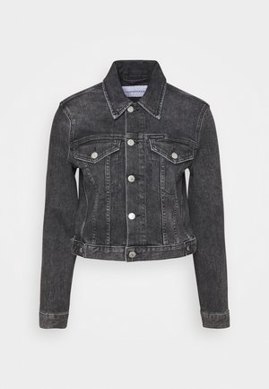 CROPPED JACKET - Denim jacket - denim grey