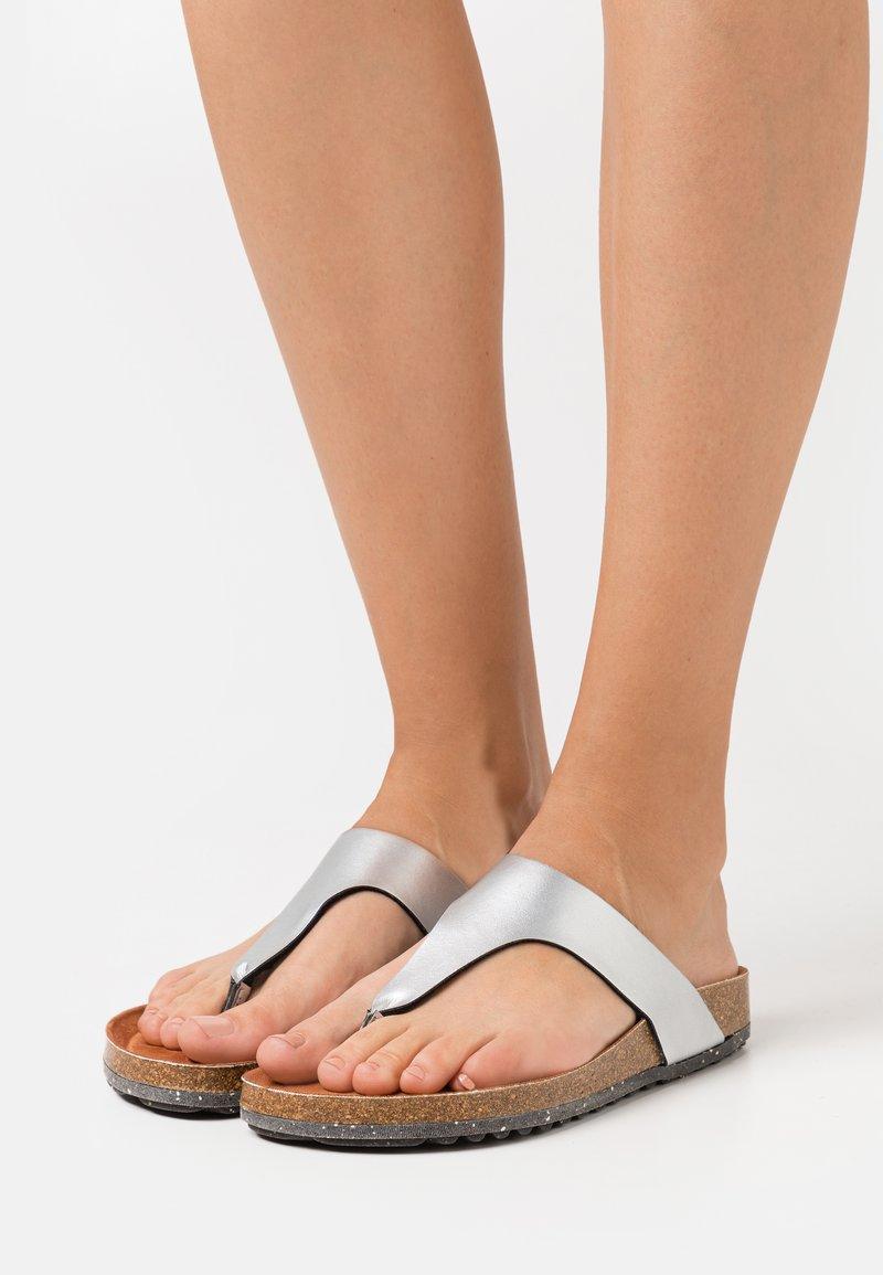 Tamaris GreenStep - T-bar sandals - metallic