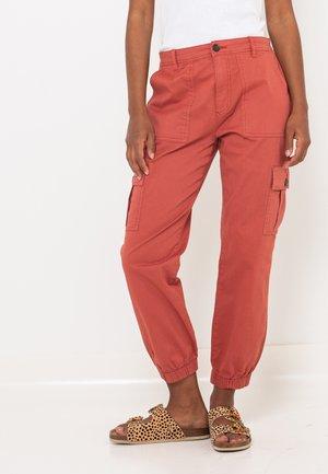Pantalon cargo - pink