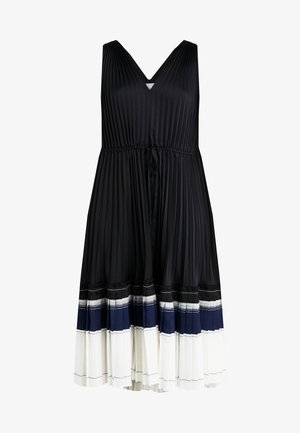 VNECK PLEATED DRESS - Juhlamekko - black