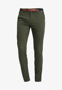 Selected Homme - SLHSLIM YARD PANTS - Chino kalhoty - deep depths - 4