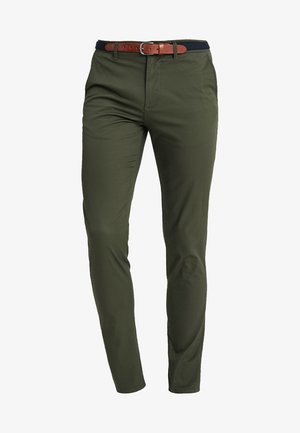 SLHSLIM YARD PANTS - Chino kalhoty - deep depths