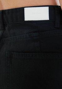 Bershka - Denim shorts - black - 5