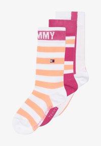 Tommy Hilfiger - KIDS GIFTBOX 3 PACK - Ponožky - light pink - 3