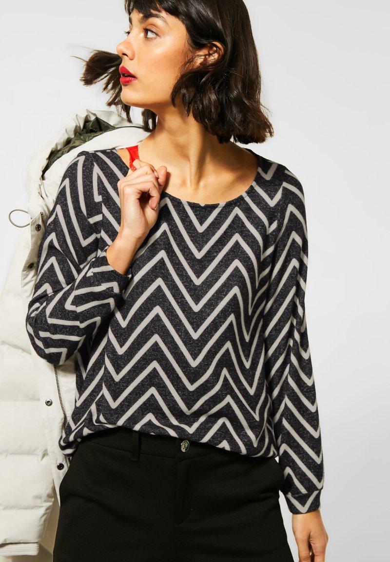 Street One - Long sleeved top - schwarz