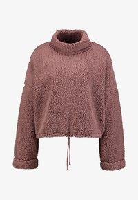 Cotton On - FUNNEL NECK TEDDY - Felpa - burlwood - 4