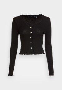 VMANITA  V-NECK BUTTONS - Long sleeved top - black