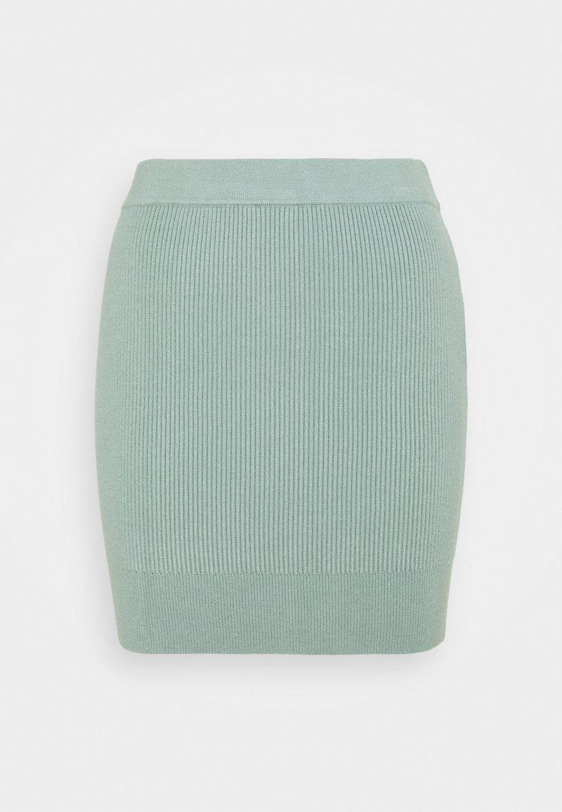 Fashion Union Petite - FLOWLER SKIRT - Mini skirt - green