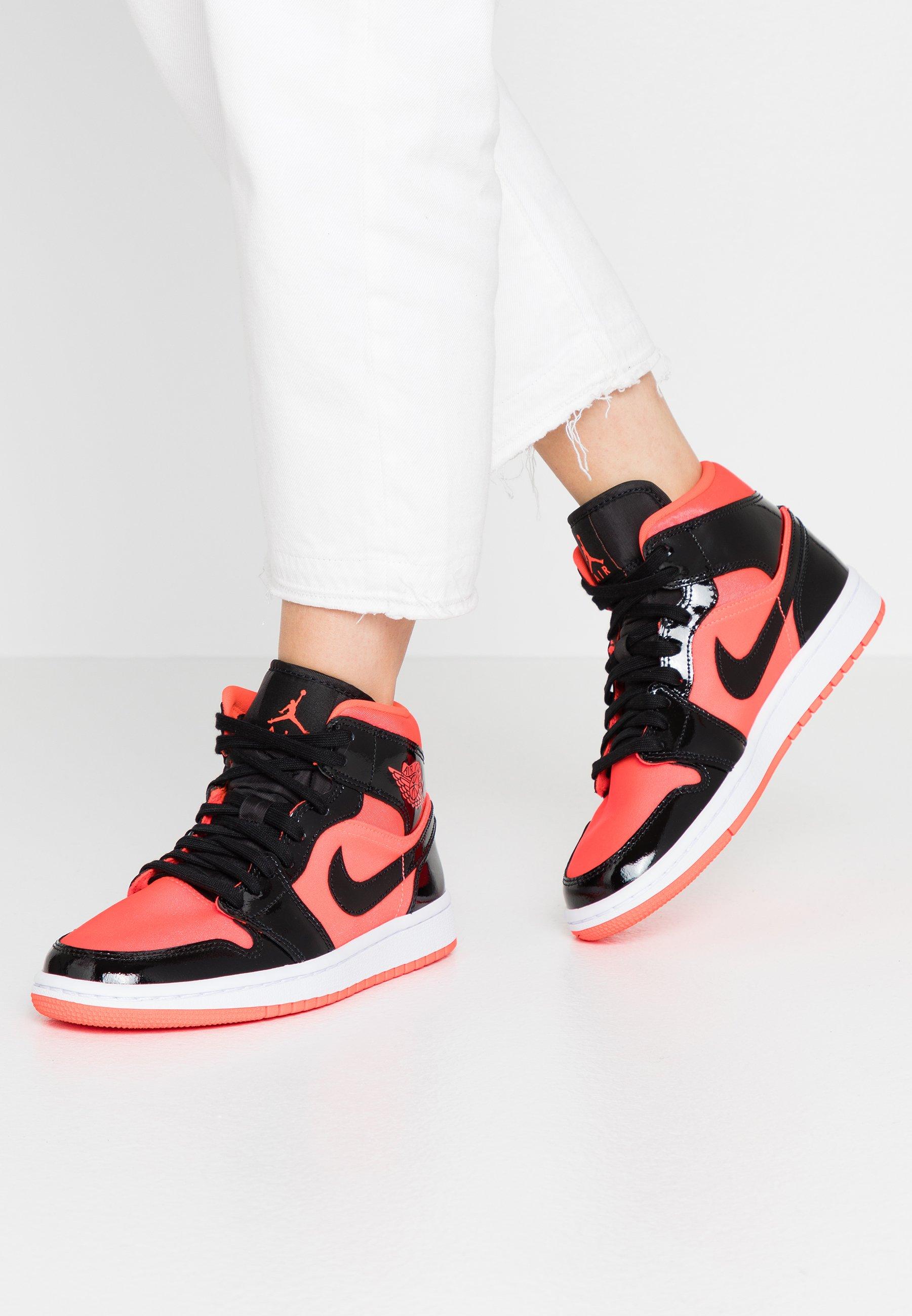 AIR 1 MID - Sneakers hoog - bright crimson/black