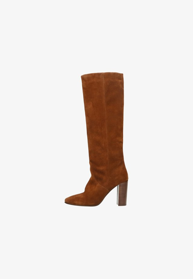 MIT ABSATZ - High heeled boots - cognac