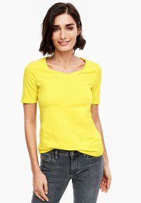 s.Oliver - Basic T-shirt - yellow - 0