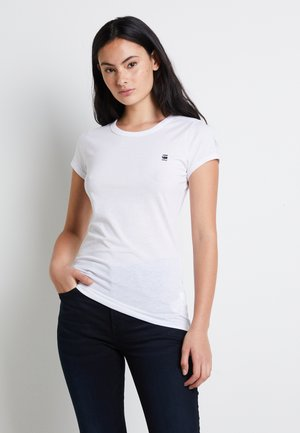 EYBEN SLIM - Basic T-shirt - white