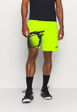 SLAM - Pantalón corto de deporte - hot lime/black/black