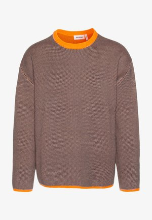 HARRIS SWEATER - Jumper - orange/green