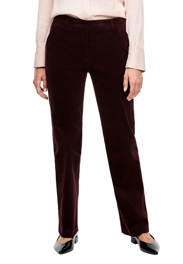 REGULAR FIT - Trousers - plum