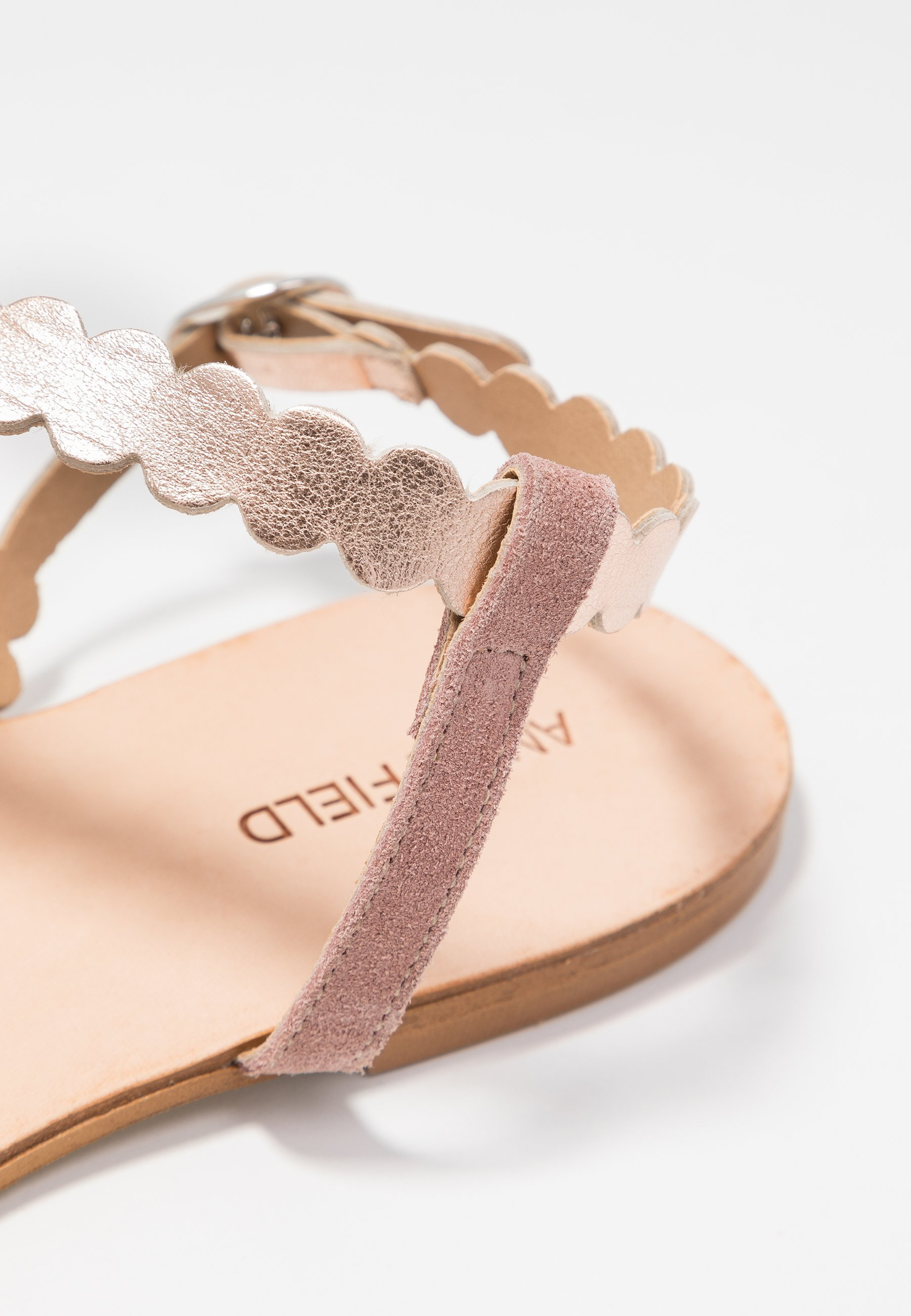 Anna Field LEATHER FLAT SANDALS - Sandals - rose Women's Sandals t5kn4