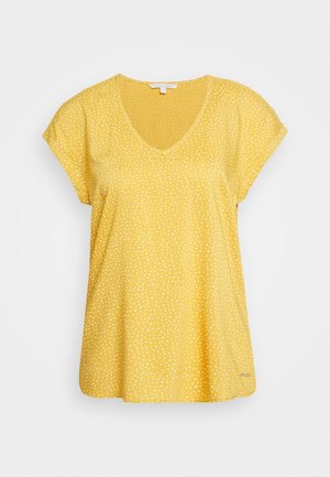 PRINTED SPORTY BLOUSE - Blouse - yellow/white