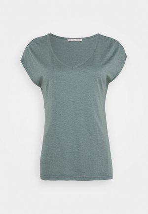 T-shirt - bas - petrol melange