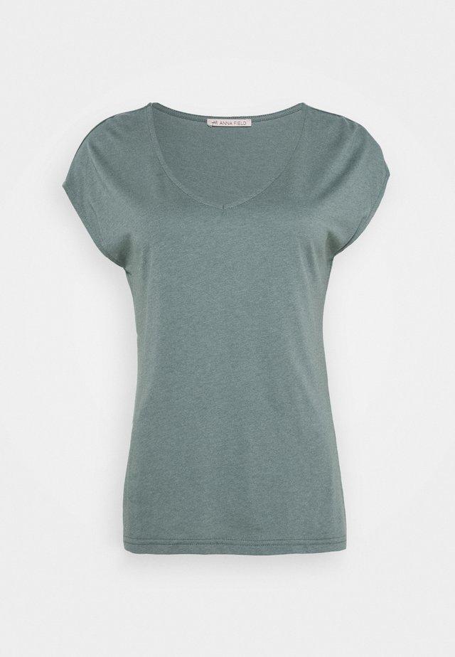 Basic T-shirt - petrol melange