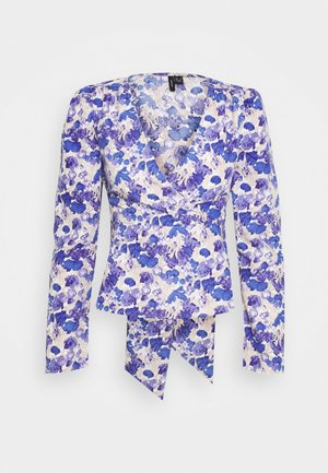 VMVIOLA WRAP TOP  - Blusa - birch/viola
