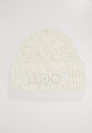 CUFFIA LOGO PUNTO TAPPETO - Mütze - bianco lana