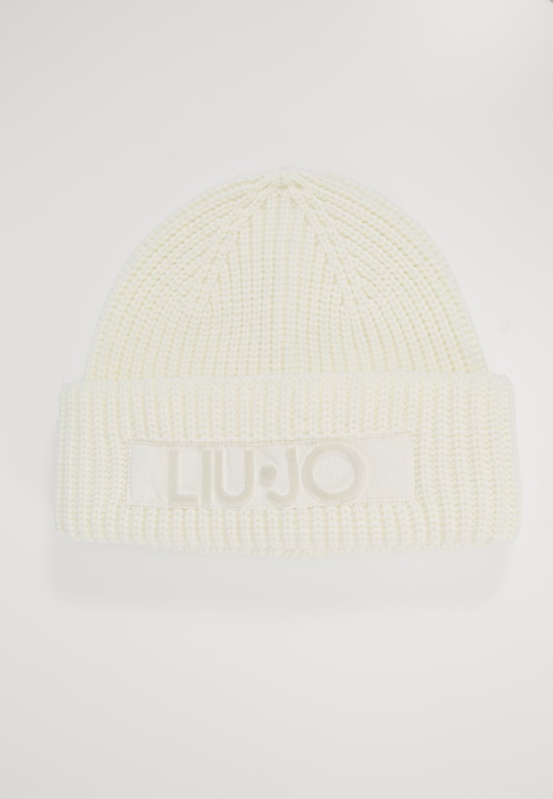 LIU JO - CUFFIA LOGO PUNTO TAPPETO - Lue - bianco lana