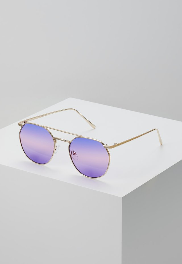 ONSSUNGLASSES BOX - Lunettes de soleil - shiny gold-coloured/phantom