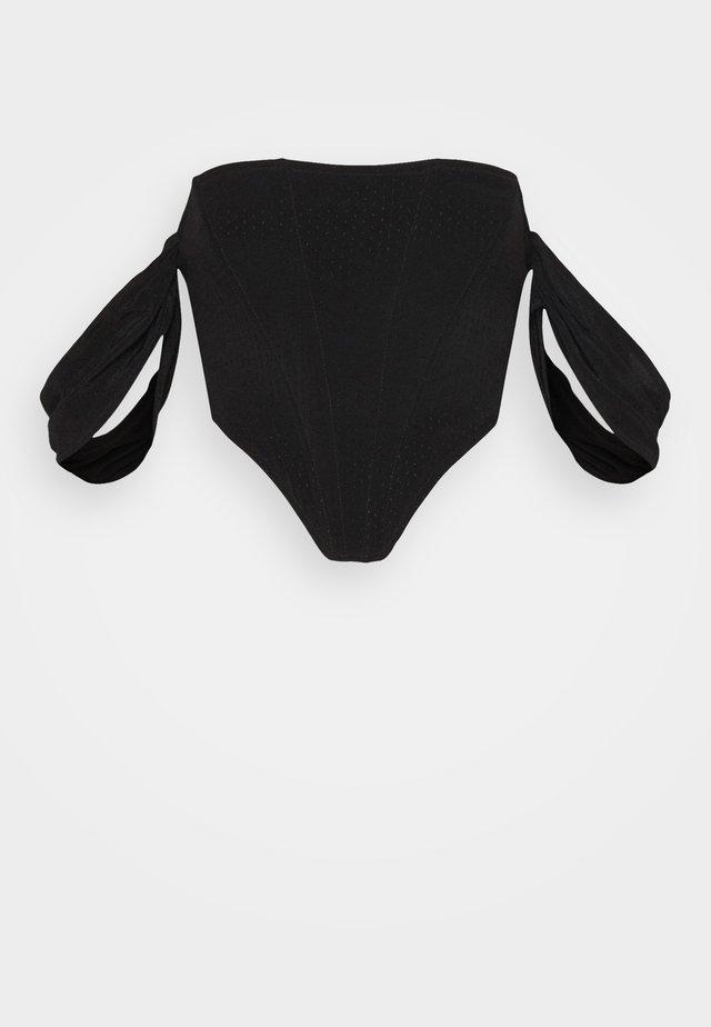 BARDOT CORSET - T-shirt print - black