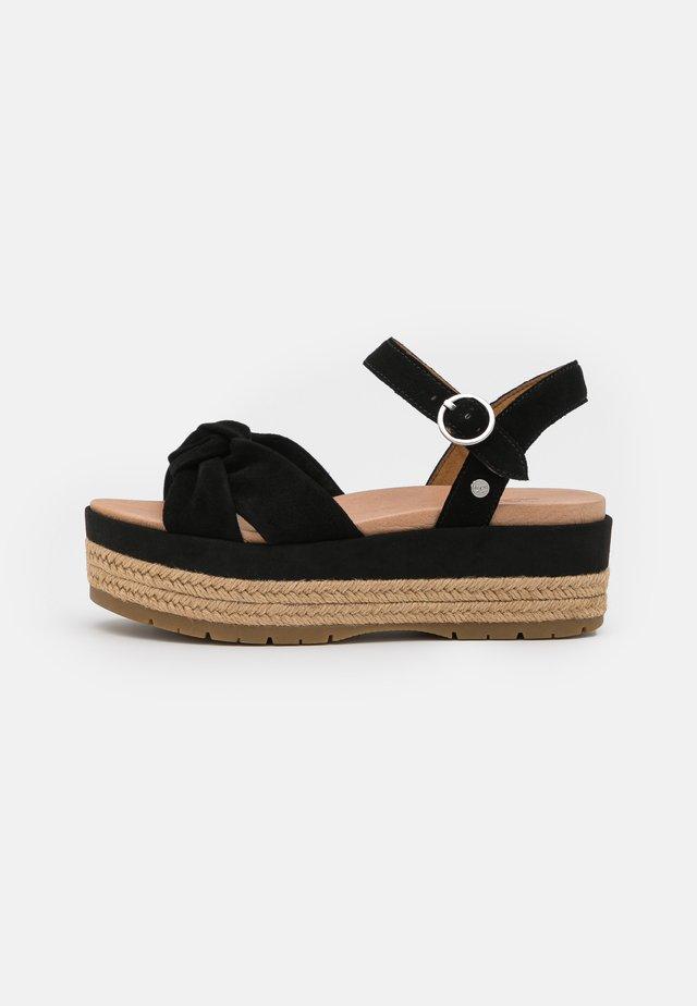 TRISHA - Sandalias con plataforma - black