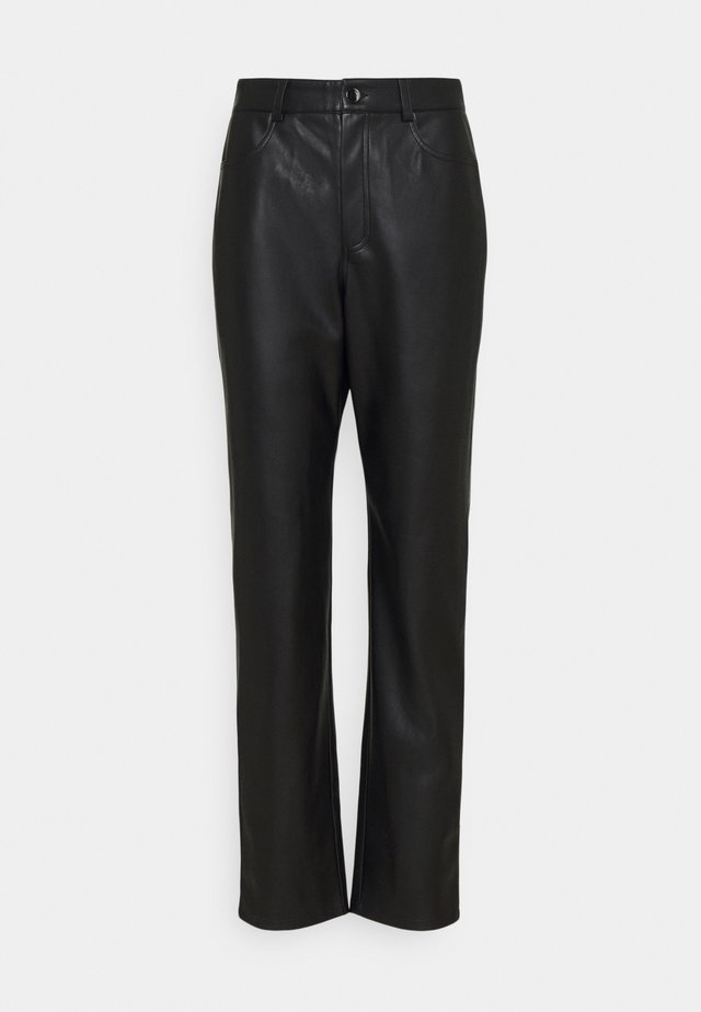 HIGH WAIST PANTS - Kangashousut - black