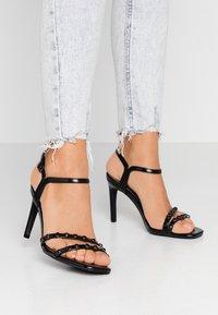 Even&Odd - Sandály na vysokém podpatku - black - 0
