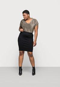 Kaffe Curve - KITY SKIRT - Pencil skirt - black deep - 1