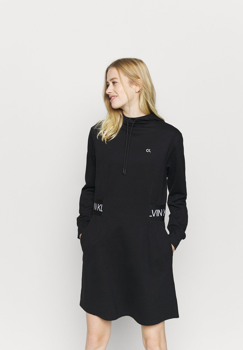 Calvin Klein Performance - DRESS - Robe en jersey - black