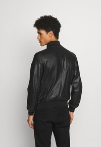 Emporio Armani - CABAN PELLE - Leather jacket - nero - 3