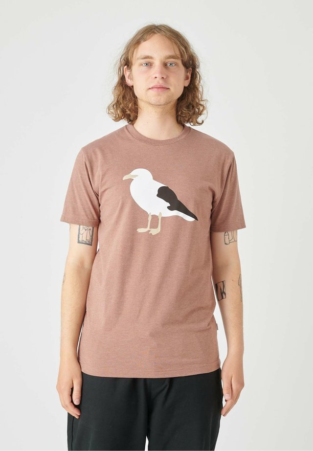 T-shirt imprimé - heather brown