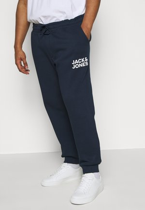 JJIGORDON JJNEWSOFT PANT - Tracksuit bottoms - navy blazer