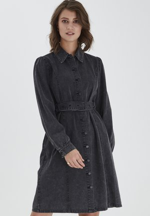 BYKALIKA - Robe en jean - mid grey denim