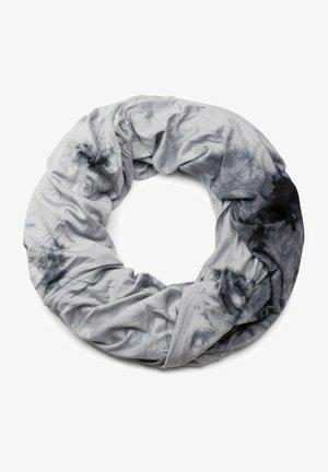 LOOP MIT BATIK MUSTER VINTAGE WASHED - Snood - grau schwarz