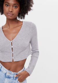 Bershka - Kardigan - light grey - 3