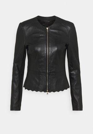 JODI - Leather jacket - black