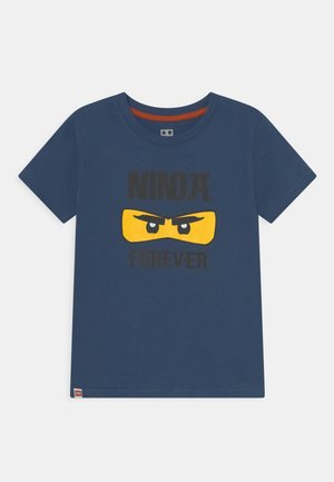 T-Shirt print - dark dust blue