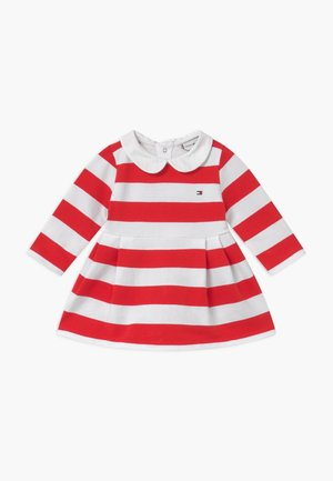 BABY RUGBY STRIPE - Day dress - red